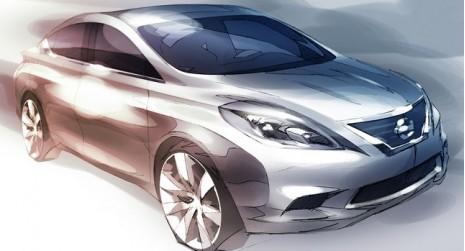 2012 Nissan Versa teaser sketch