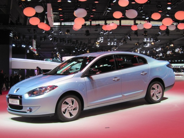 2012 Renault Fluence ZE electric car (European model) at 2012 Paris Auto Show