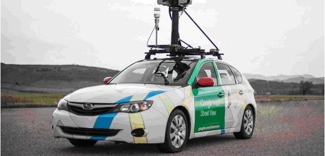 2012 Subaru Impreza hatchback used for Google Street View, modified to gather data on methane leaks