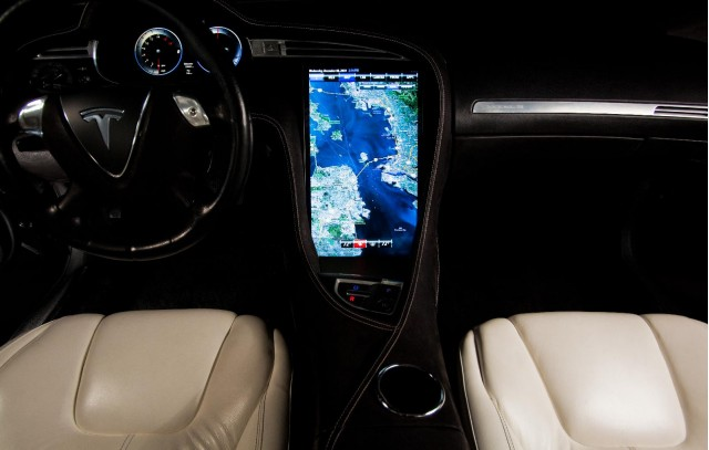 2012 Tesla Model S interior, prototype