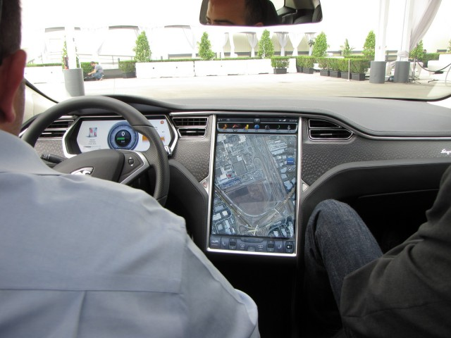 2012 Tesla Model S beta vehicle, Fremont, CA, October 2011