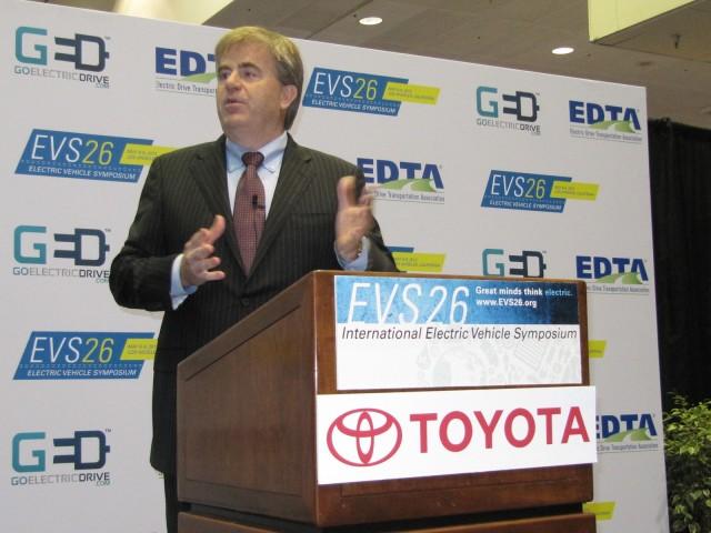 2012 Toyota RAV4 EV launch at EVS-26, Los Angeles, April 2012