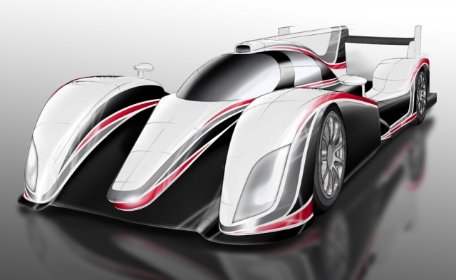 2012 Toyota LMP1 Hybrid race car