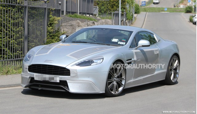 2013 Aston Martin DBS replacement spy shots