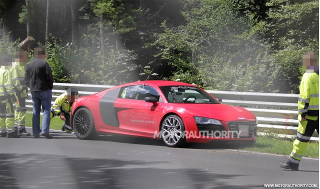 2013 Audi R8 e-tron that crashed at the Nürburgring in July 2012