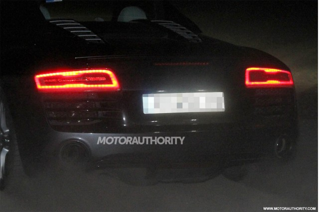 2013 Audi R8 Spyder facelift spy shots