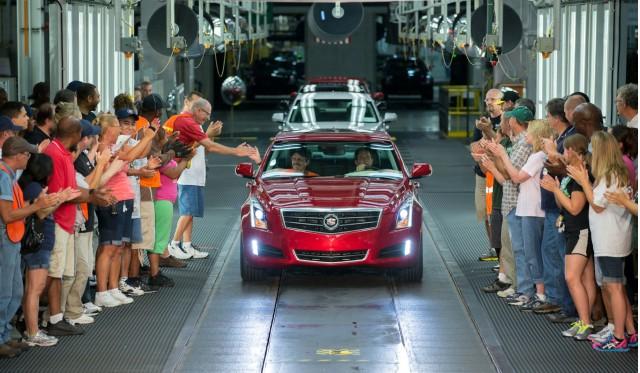 2013 Cadillac ATS sedan begins production at the Lansing Grand River assembly plant