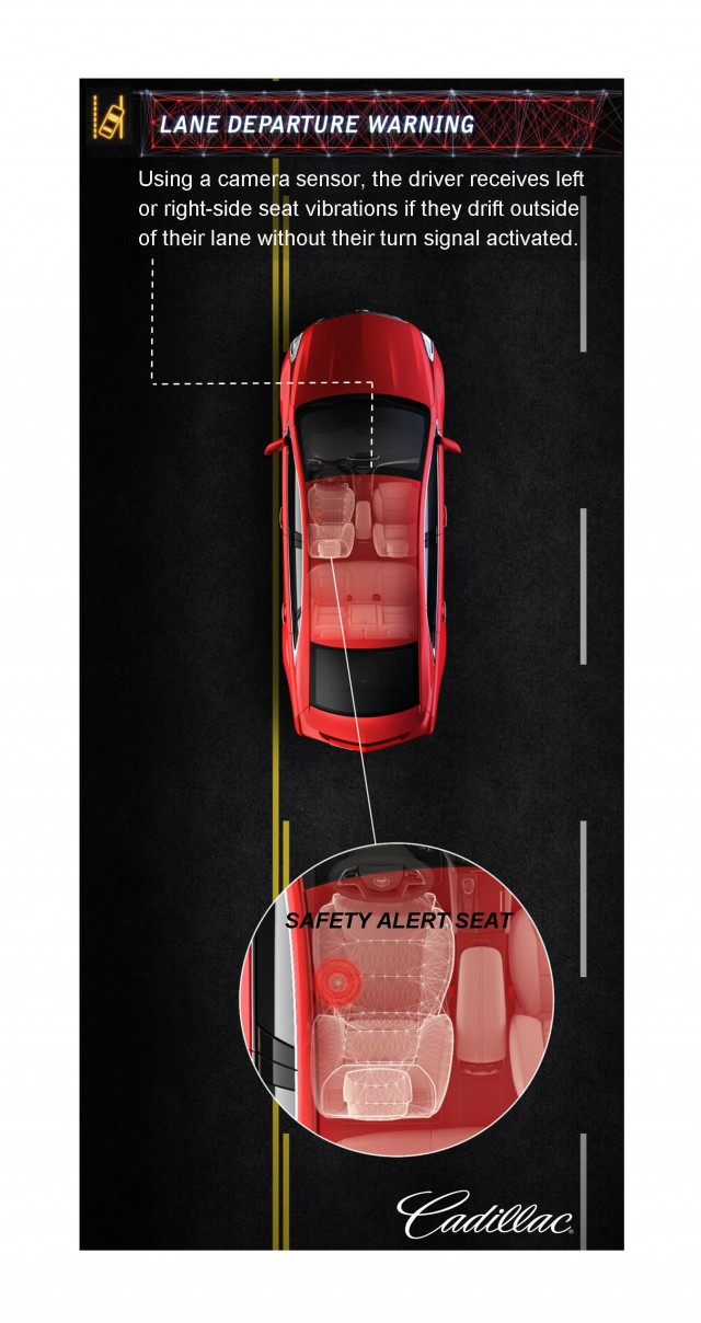 2013 Cadillac XTS - Lane Departure Warning and Safety Alert Seat