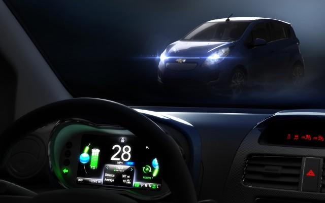 2013 Chevrolet Spark EV dashboard