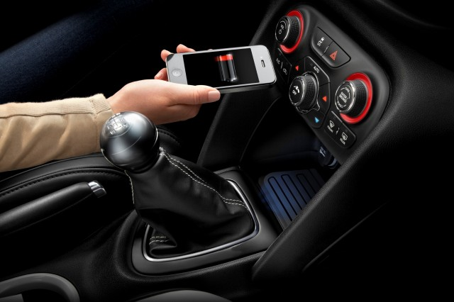 2013 Dodge Dart in-car wireless charging accessory from Mopar