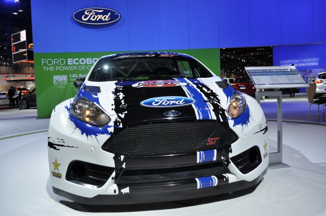 2013 Ford Fiesta ST Global RallyCross race car live shots