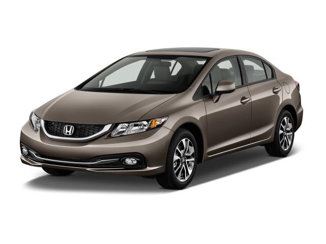 2013 Honda Civic 4-door Auto EX-L Angular Front Exterior View