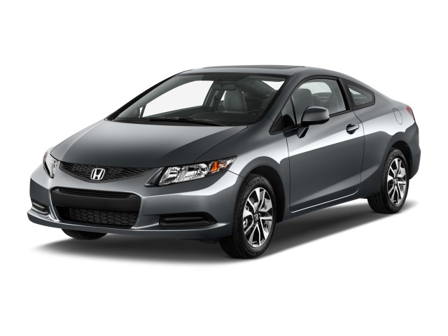 2013 Honda Civic Coupe 2-door Auto EX Angular Front Exterior View