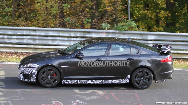 2013 Jaguar XFR-S spy shots
