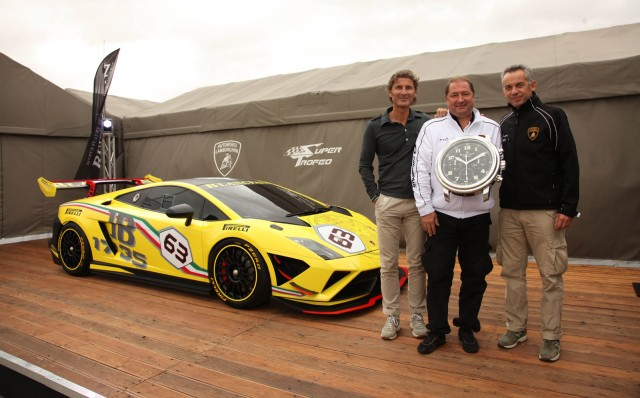 From left to right: Stephan Winkelmann, Alain Delamuraz and Maurizio Reggiani