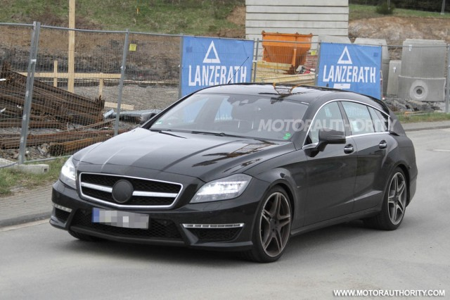 2013 Mercedes-Benz CLS63 AMG Shooting Brake spy shots
