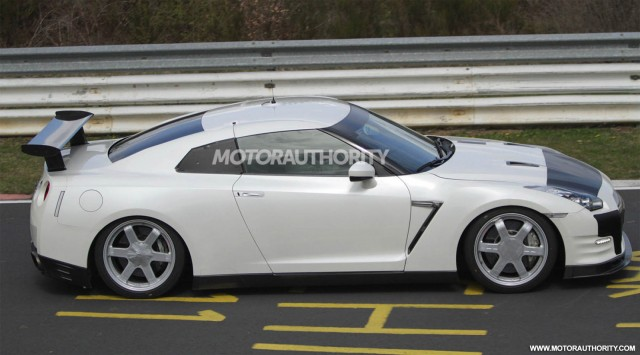 2013 Nissan GT-R Club Track Edition testing at the Nürburgring