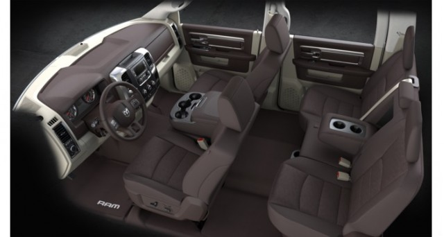 2013 Ram 1500, towing configuration (interior)