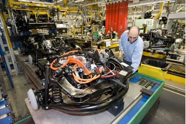 2013 smart fortwo electric drive on the production line