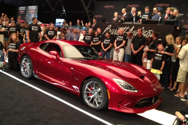 2013 SRT Viper with VIN #1 on the auction block - Image courtesy Barrett-Jackson