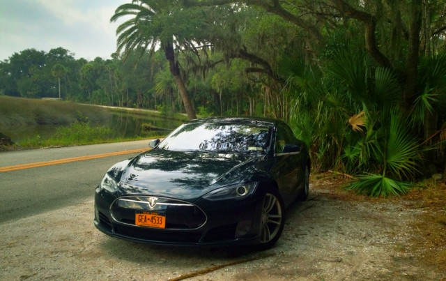 2013 Tesla Model S in Florida, during New York to Florida road trip [photo: David Noland]