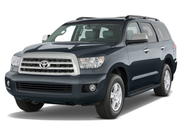 2013 Toyota Sequoia RWD 5.7L Limited (Natl) Angular Front Exterior View