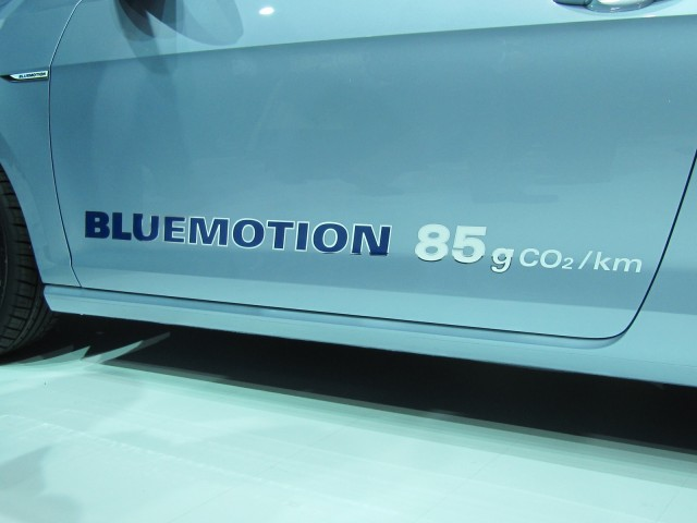 BlueMotion door label