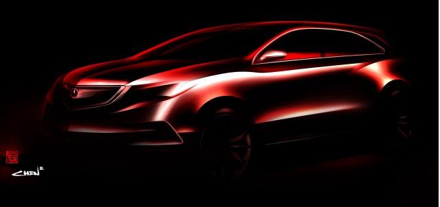 2014 Acura MDX Prototype teaser image