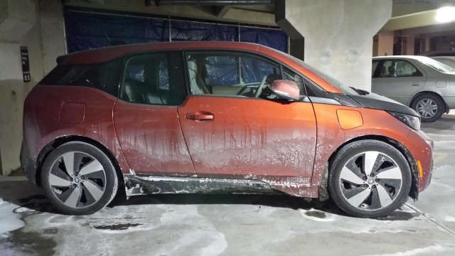 2014 bmw i3 electric car during winter photo owner chris neff