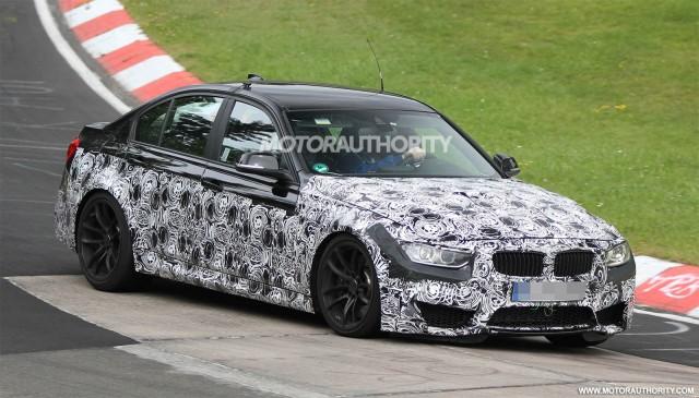 2014 BMW M3 sedan spy shots