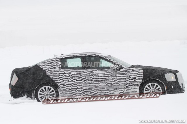 2014 Cadillac CTS spy shots. © KGP Photography.