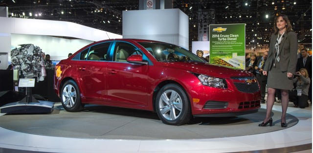 2014 Chevrolet Cruze Clean Turbo Diesel, 2013 Chicago Auto Show [photo: Brian Kersey for Chevrolet]