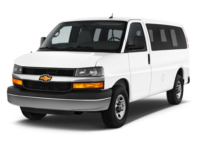 "2014 Chevrolet Express Passenger RWD 2500 135"" LS Angular Front Exterior View"