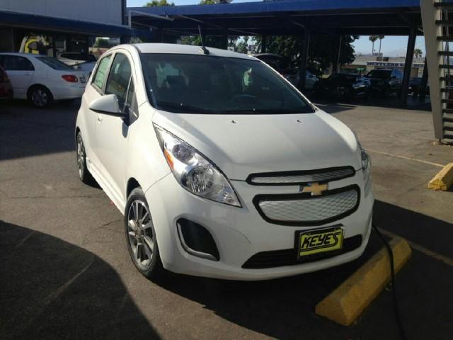 2014 Chevrolet Spark EV recharging at Keyes Chevrolet, Van Nuys, CA