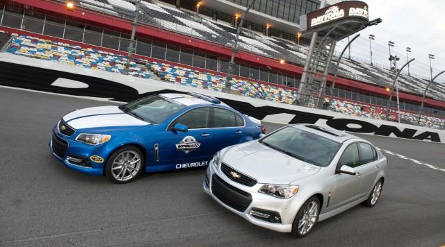 2014 Chevrolet SS at its debut at the Daytona International Speedway