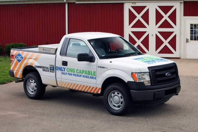 2014 Ford F-150 fitted with natural-gas readiness package