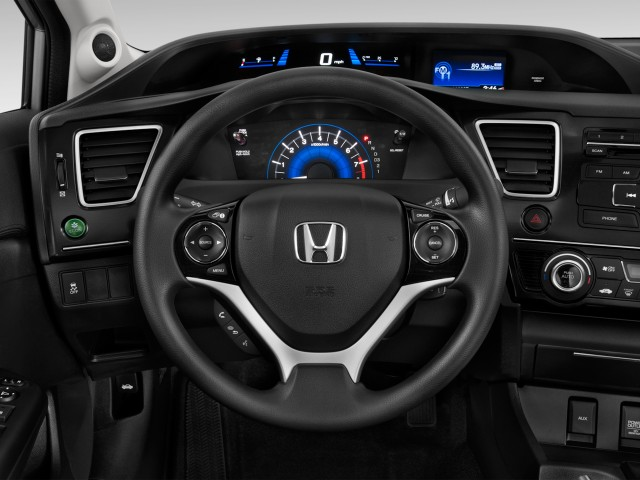 2014 Honda Civic Sedan 4-door CVT EX Steering Wheel
