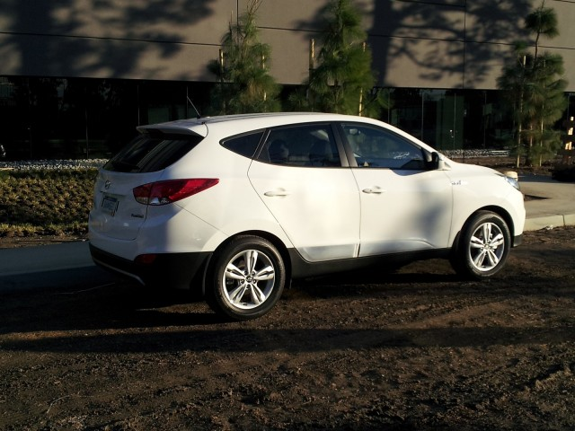 2015 Hyundai Tucson Fuel Cell at Hyundai headquarters, Fountain Valley, CA
