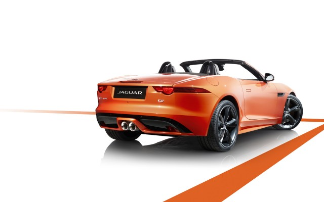 2014 Jaguar F-Type with Firesand paint and Design and Black exterior and interior upgrades