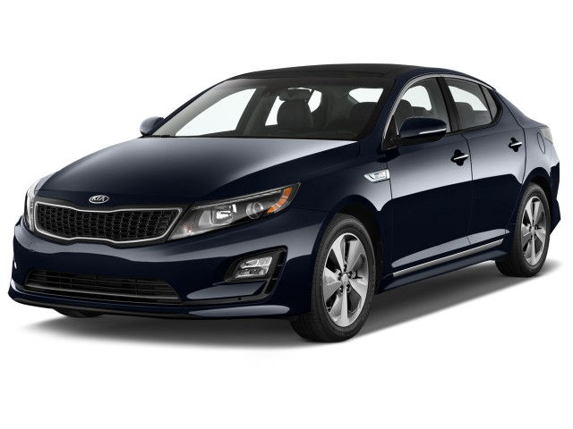 2014 Kia Optima Hybrid 4-door Sedan EX Angular Front Exterior View