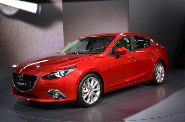 2014 Mazda 3 four-door sedan, 2013 Frankfurt Auto Show  [photo: IndianAutosBlog]