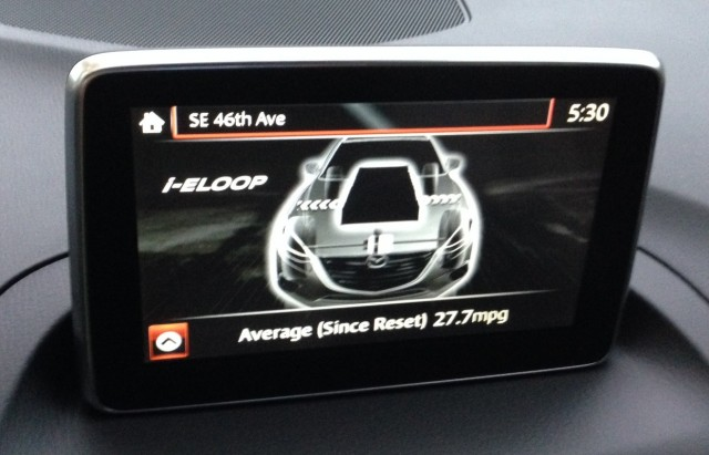i-ELOOP screens in Mazda Connect  -  2014 Mazda 3 Grand Touring