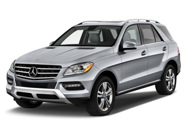2014 Mercedes-Benz M Class RWD 4-door ML350 Angular Front Exterior View