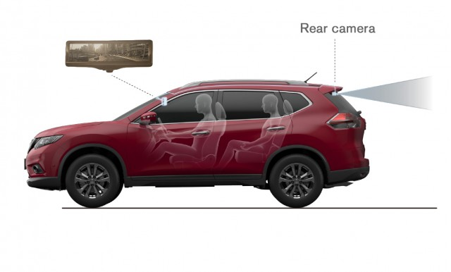 2014 Nissan Rogue Smart Rearview Mirror