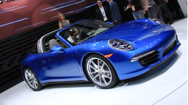 2014 Porsche 911 Targa live photos, 2014 Detroit Auto Show