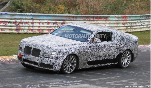 2014 Rolls-Royce Ghost Coupe (Corniche) spy shots