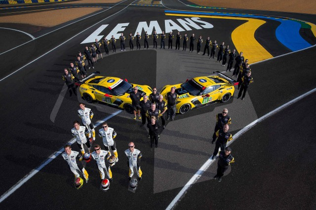 2015 Chevrolet Corvette C7.R race car at the 24 Hours of Le Mans