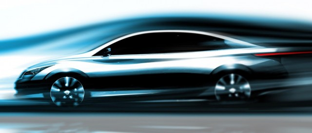 2015 Infiniti electric luxury sedan teaser sketch
