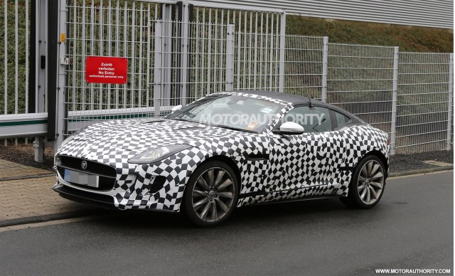 2015 Jaguar F-Type coupe spy shots
