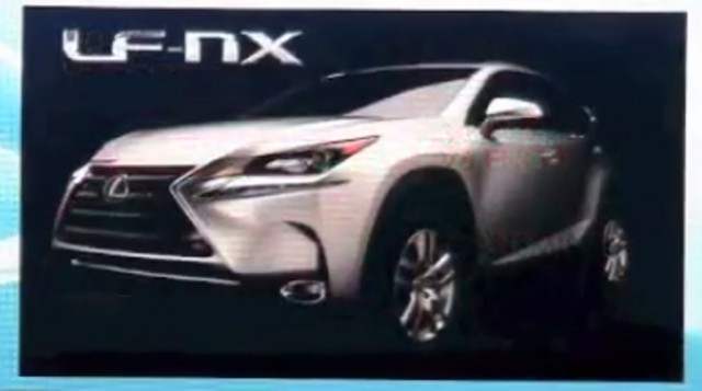 2015 Lexus NX allegedly shown in presentation slide